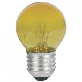 Tropfenlampe, E27 / 25W, Dekolampe Farbe gelb