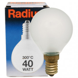 Backofenlampe, E14 / 40W, Tropfen, matt Radium