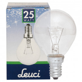 Backofenlampe, E14 / 25W, Tropfen, klar Leuci