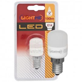 LED Lampe, Form Birne, E14 / 2,5W, matt, 190 lm, Lightme