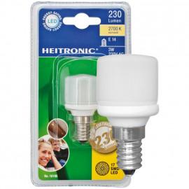 LED Lampe, Form Birne, E14 / 3W, opal, 230 lm, Heitronic