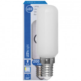 LED Lampe, Form Röhre, E14 / 3W, matt, 200 lm, LED's light