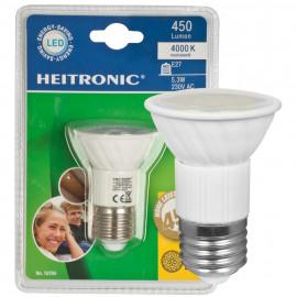 LED Lampe, Reflektor, E27 / 5,3W, 450 lm, Heitronic