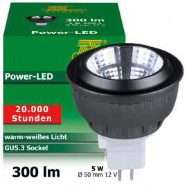 LED Lampe, Reflektor, GU5,3 / 5W, 300 lm, 27000K, TS-Electronic