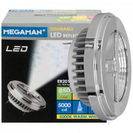 LED Lampe, Reflektor, G53 / 15W, 850 lm, 4000K, Megaman