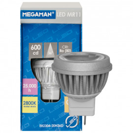 LED Lampe, MR11, GU4 / 4W, 230 lm, 2700K, Megaman