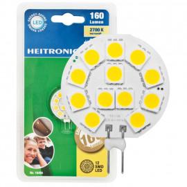 LED Lampe, Stift Sockel, G4 / 2,5W, 175 lm, 2700K, Heitronic