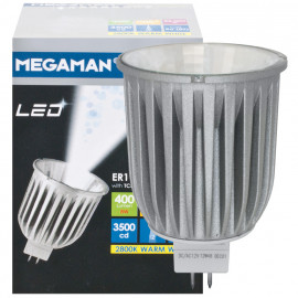 LED Lampe, Reflektor, GU5,3 / 8W, 400 lm, 2800K, Megaman