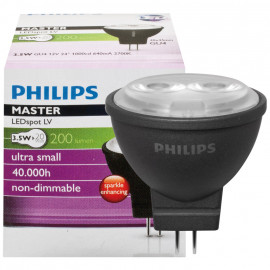 LED Lampe, MASTER LEDspot, MR11, GU4 / 3,5W, 200 lm, 2700K, Philips