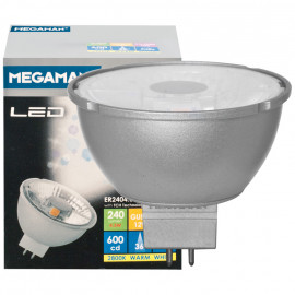 LED Lampe, Reflektor, MR16, Flood 36°, GU5,3 / 4,5W, 240 lm, 4000K, Megaman
