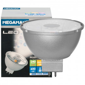 LED Lampe, Reflektor, MR16, Flood 36°, GU5,3 / 4,5W, 240 lm, 2800K, Megaman