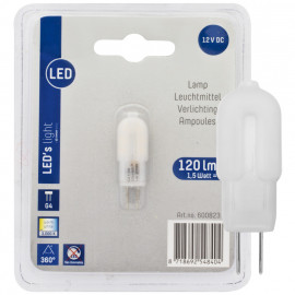 LED Lampe, Stift Sockel, G4 / 1,5W, 120 lm, 3000K, LED's light