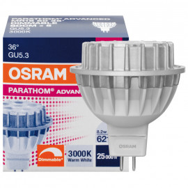 LED Lampe, Reflektor, PARATHOM Advanced MR16, GU5,3 / 8,2W, 621 lm, 3000K, Osram