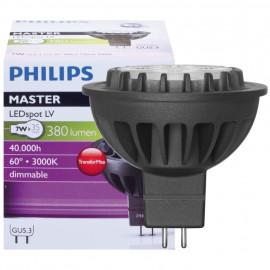 LED Lampe, Reflektor, MASTER LEDSpot, GU5,3 / 7W, 380 lm, 3000K, Philips