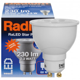 LED Lampe, Reflektor, RaLED STAR, GU10 / 3,3W, 230 lm, 2700K, Radium