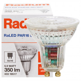 LED Lampe, Reflektor, RaLED STAR, GU10 / 5,5W, 350 lm, 2700K, Radium