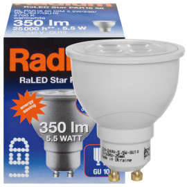 LED Lampe, Reflektor, RaLED STAR, GU10 / 5,3W, 350 lm, 3000K, Radium