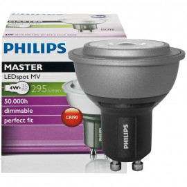 LED Lampe, Reflektor, MASTER LEDspot, Ra90, GU10 / 4W, 295 lm, 4000K, dimmbar, Philips