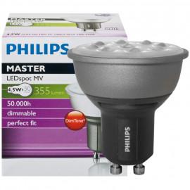 LED Lampe, Reflektor, MASTER LEDspot, GU10 / 4,5W, 355 lm, 2700K, dimmbar, Philips