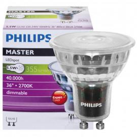LED Lampe, Reflektor, MASTER LEDspot, GU10 / 5,4W, 378 lm, 2700K, dimmbar, Philips