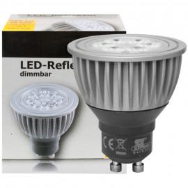 LED Lampe, Reflektor, GU10 / 6W, 385 lm, 900cd, 2700K, TS Electronic