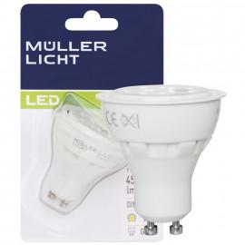 LED Lampe, Reflektor, GU10 / 7W, 450 lm, 2700K, dimmbar, Müller Licht