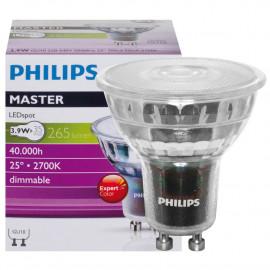 LED Lampe, Reflektor, MASTER LEDspot, GU10 / 5,4W, 260 lm, 3000K, dimmbar, Philips