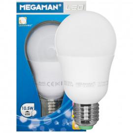LED Lampe, AGL CLASSIC, E27 / 10,5W, opal, 810 lm, 2800K Megaman