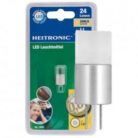 LED Lampe, Stift Sockel, G4 / 0,6W, 24 lm, 2900K, Heitronic