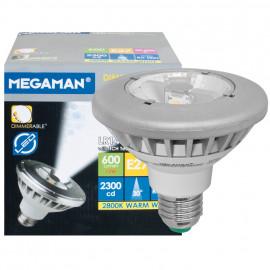LED Lampe, Reflektor, E27 / 12W, PAR30, 600 lm, 2300cd, Megaman