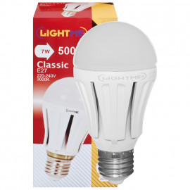 LED Lampe, AGL LED Classic, E27 / 7W, opal, 500 lm, 3000K LightMe
