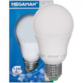 LED Lampe, AGL LED CLASSIC, E27 / 9,5W, opal, 810 lm, 2800K Megaman