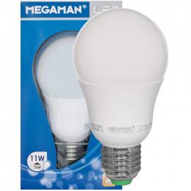 LED Lampe, AGL LED CLASSIC, E27 / 11W, opal, 1055 lm, 2800K Megaman