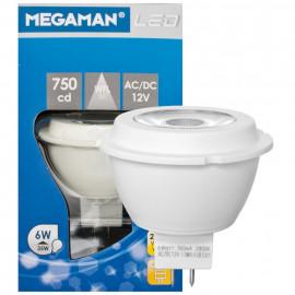 LED Lampe, Reflektor, MR16, GU5,3 / 5W, 330 lm, 2800K,Megaman