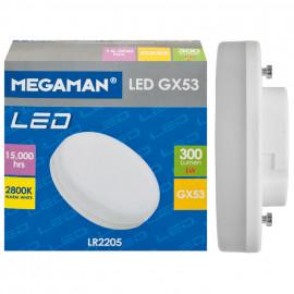 LED Lampe, Reflektor, GX53 / 5W, 300 lm, 2800K, Megaman