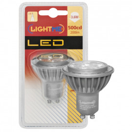 LED Lampe, Reflektor, GU10 / 3,6W, 200 lm, 3000K, Lightme