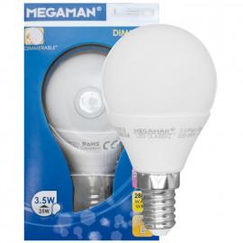 LED Lampe, Tropfen, LED CLASSIC, Ultra Compact, E14 / 3,5W, opal, 250 lm, Megaman