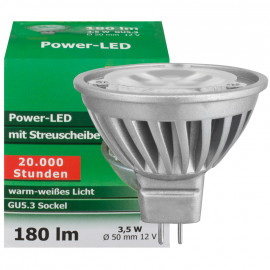 LED Lampe, Reflektor, GU5,3 / 3,5W, 180 lm, 3000K, TS-Electronic