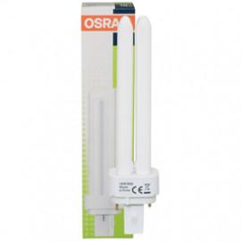 Lampe, Energiespar, DULUX D, G24d-1 / 13W, 900 lm, LF 830, Osram