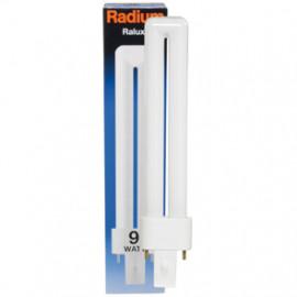 Lampe, Energiespar, RALUX, G23 / 9W, 600 lm, LF 840, Radium