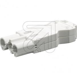 Steckverbinder Steckerteil 230V / 16A weiß