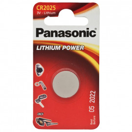 Knopfzelle, Lithium, POWER CELLS, CR 2025, 3V - Panasonic