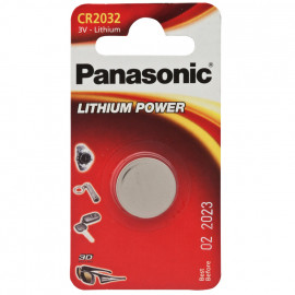 Knopfzelle, Lithium, POWER CELLS, CR 2032, 3V - Panasonic