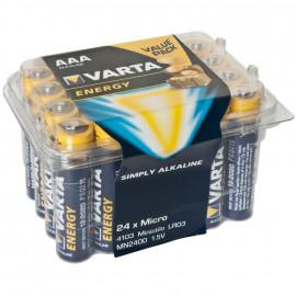 Batterie, ENERGY, Alkaline, Micro, LR03, AAA, 1,5V, in Kunststoffbox - Varta