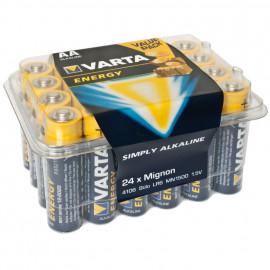 Batterie, ENERGY, Alkaline, Mignon, LR6, AA, 1,5V, in Kunststoffbox - Varta
