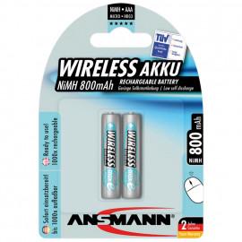 Akku, SPEZIAL-WIRELESS, MAX E, NiMh, 1,2V / 800 mAh, Micro für Funkmäuse / Tastaturen