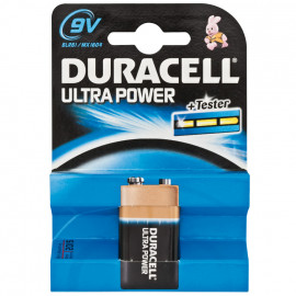 Batterie, ULTRA POWER, Alkaline, Block, 6LR61, 9V - Duracell