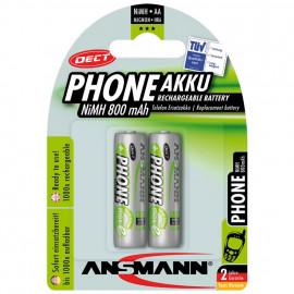 Akku, DECT, NiMh, 1,2V / 800 mAh, Mignon für Telefone (Blisterware)