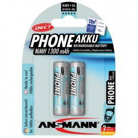 Akku, DECT, NiMh, 1,2V / 1300 mAh, Mignon für Telefone (Blisterware)