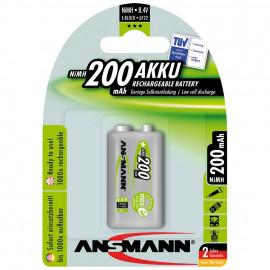 Akku, MAX E, NiMh, 8,4V / 200 mAh, Block, 9V (Blisterware)